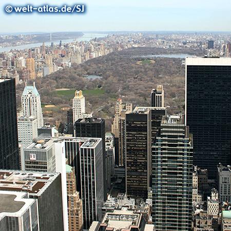 Blick über den Central Park vom Dach des Rockefeller Center