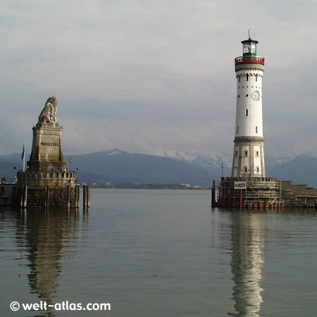 Lindau, Lighthouse, Lake Constance, Bavaria, Position: 47° 32' N | 009° 41' E