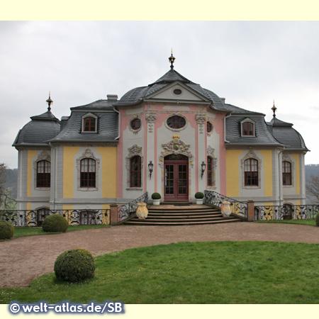 Das Rokokoschloss in Dornburg an der Saale