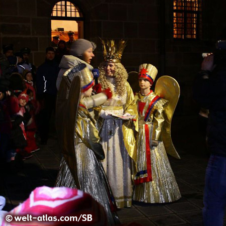 The Nuremberg Christmas Angel at Christmas market