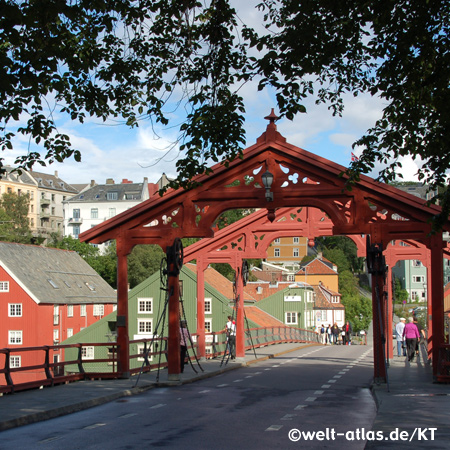 The old city bridge in Trondheim