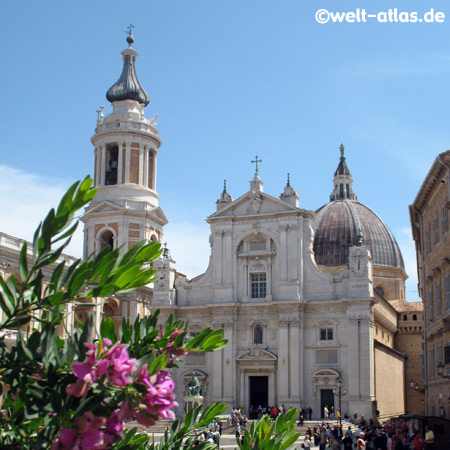 Loreto, belltower of the Basilica, Marian shrine, Le Marche, Italy