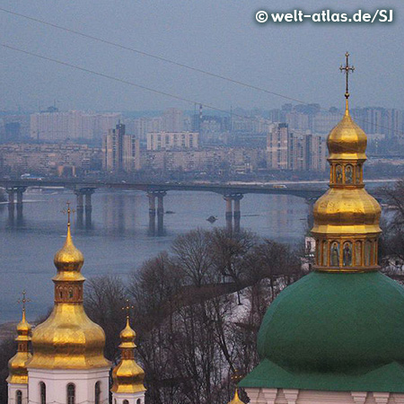 Golden towers, Monastery of the Caves, Kiev, UNESCO World Heritage Site