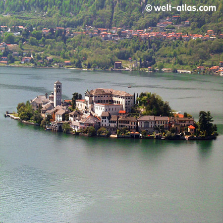 Ortasee und Klosterinsel San Giulio,Piemont, Italien