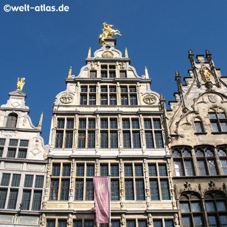 Giebelhäuser am Grote Markt in Antwerpen