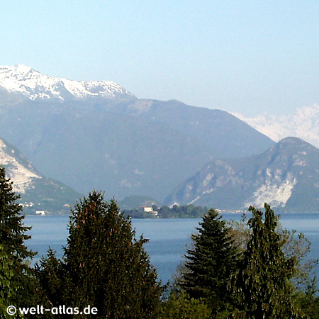 Blick auf den Lago Maggiore und Isola Madre, Cerro
