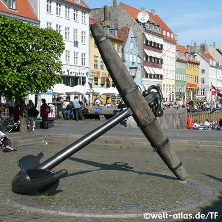 Am Nyhavn in Kopenhagen, Dänemark