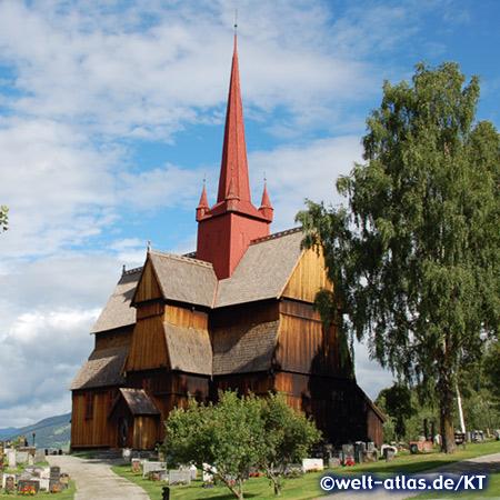 The Ringebu stave church, Norway