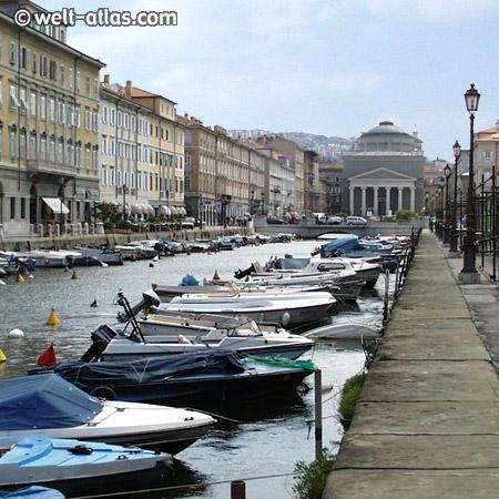 Trieste, Canal Grande and church Sant'Antonio Nuovo, Adria