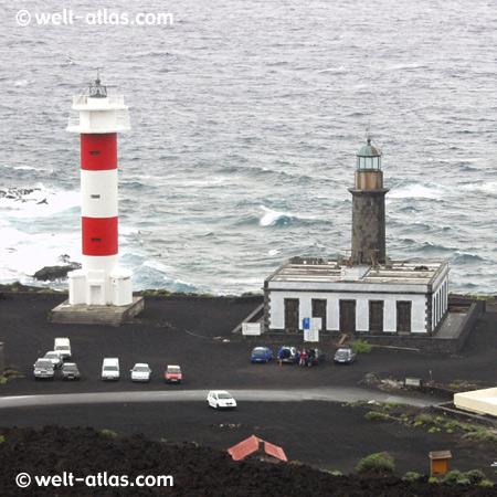 Leuchttürme auf La Palma, Punto de Fuencaliente im Süden, Kanarische Inseln, Position: 28º27'2''N  17º50'5''W