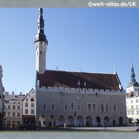 Rathaus von Tallinn (Reval), Estlands Hauptstadt