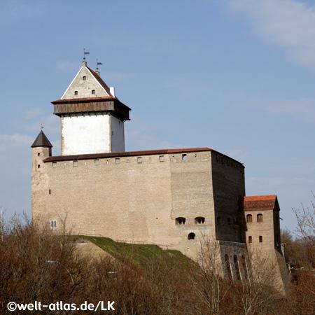 Hermannsfeste, Hermanni Linnus, Narva an der Grenze zwischen Estland und Russland