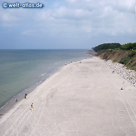 Beach and coast of Trzesacz, Poland