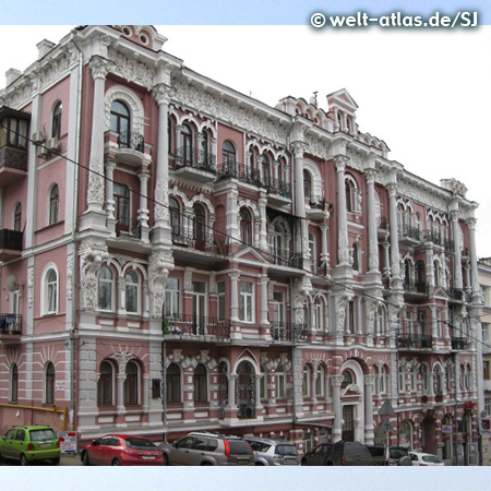 Schöne, alte Fassade in Kiew
