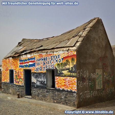 Old Gift Shop in Povoacao Velha, village on Boa Vista Island