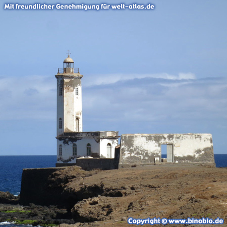 Lighthouse Ponta Temerosa in Praia on Santiago Island, Cape Verde