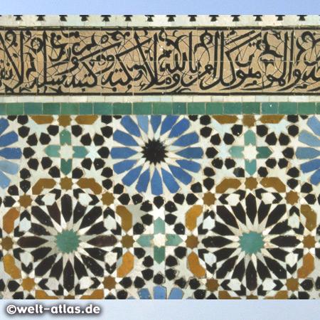 Mosaik in der Medersa Bou Inania, Fes