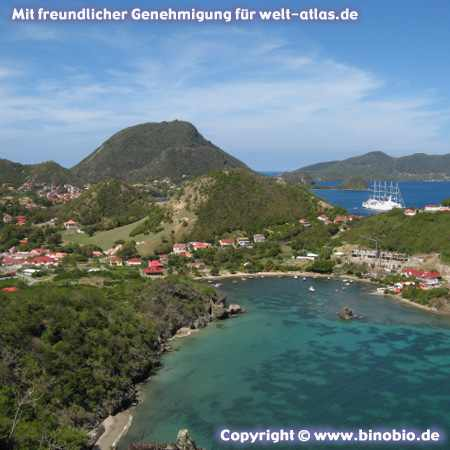 Guadeloupe, Les Saintes, Blick vom Morne Morel,Fotos: Reisebericht Guadeloupe, guadeloupe.binobio.de