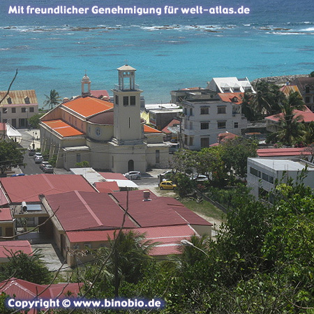 Die Kirche des Ortes Capesterre auf Marie Galante, Guadeloupe Fotos: Reisebericht Guadeloupe, guadeloupe.binobio.de