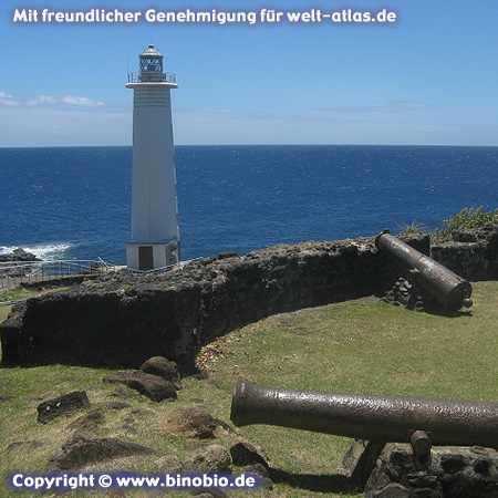 Der Leuchtturm von Vieux Fort auf Basse-Terre, Guadeloupe Fotos: Reisebericht Guadeloupe, guadeloupe.binobio.de