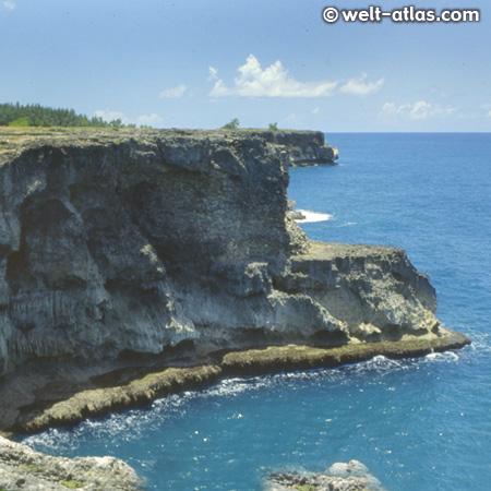 Barbados, rocky shoreline at North Point
