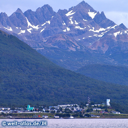 Mountains and coast of Puerto Williams, Navarino Island, Chile