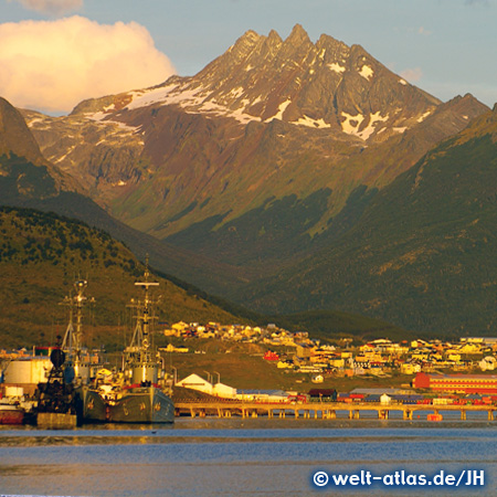 Evening light at Port Ushuaia, Argentina