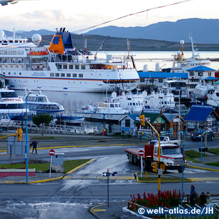 MS BREMEN at the Port of Ushuaia, Argentina