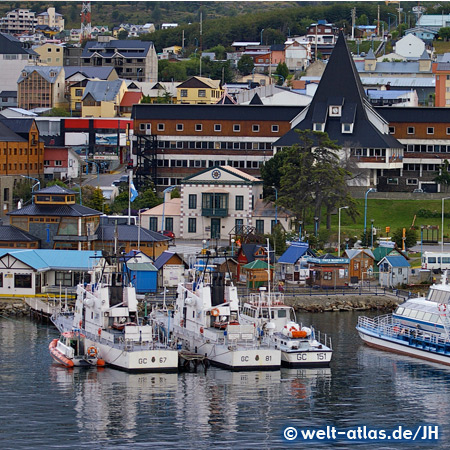 Busy port of  Ushuaia