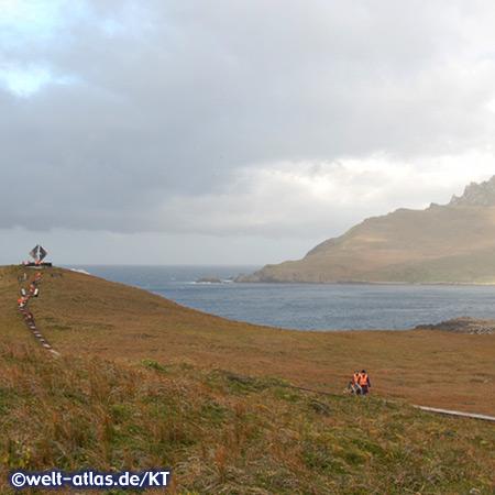 Weg zum Albatros-Denkmal am Kap Horn