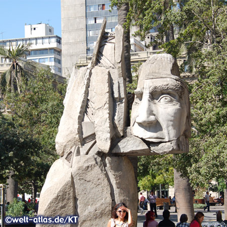 Plaza de Armas, centre of Santiago