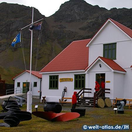 Museum in Grytviken, ehemalige Walfangstation und einziger Ort in Südgeorgien