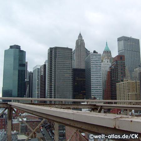 New York Skyline von der Brooklyn Bridge
