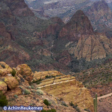 Mountains und Canyons in Arizona,Extremsportler Achim Heukemes  unterwegs...