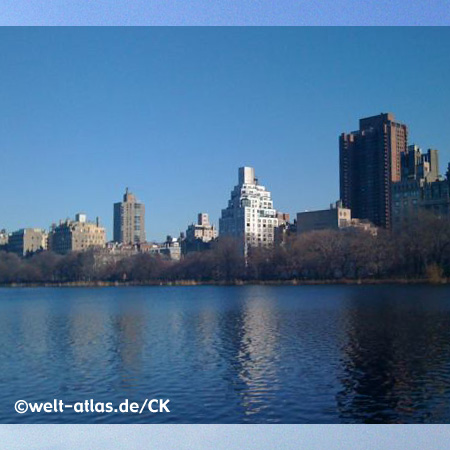 Lake im Central Park in New York City, USA