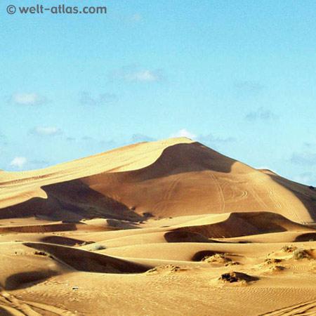 In the desert of Dubai