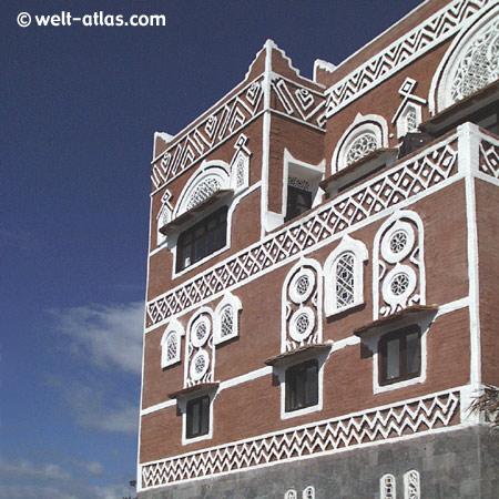Expo Hannover, Pavillon des Jemen,Beispiel traditioneller Bauweise