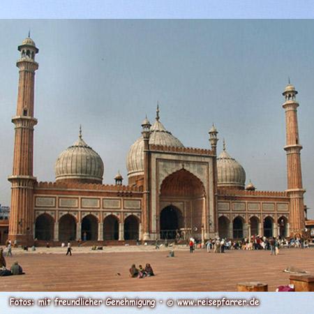 Jama Masjid, die Freitagsmoschee in Delhi ist größte Moschee IndiensFoto:© www.reisepfarrer.de
