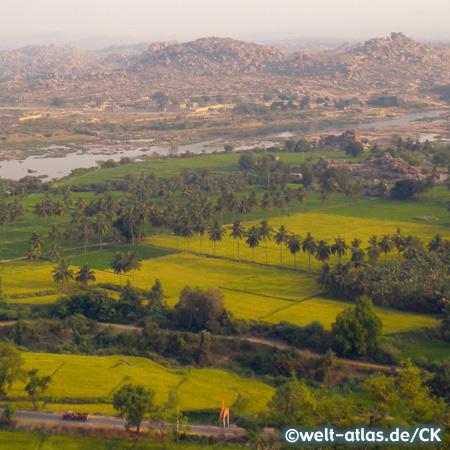 Blick vom Anjaneya Hill, Hampi