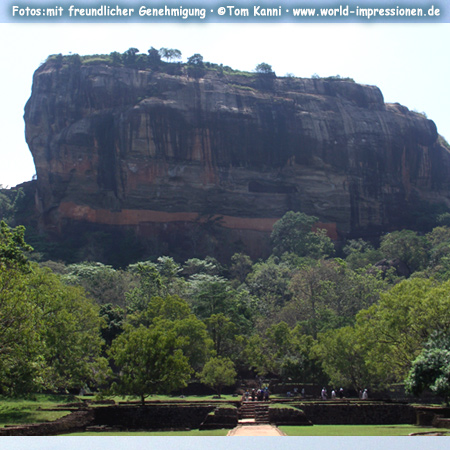 Rock of Sigiriya, ancient fortress, Sri Lanka