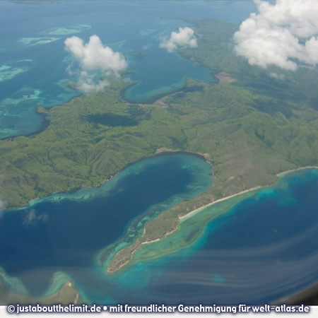 The islands of Komodo and Flores