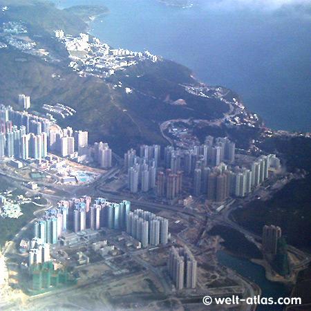 Im Anflug auf Hongkong