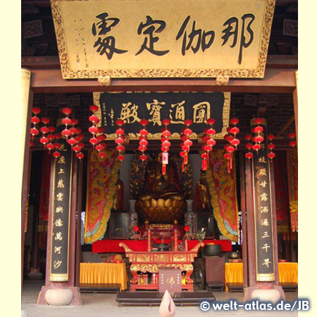Buddhistischer Tempel in der alten Wasserstadt Zhujiajiao