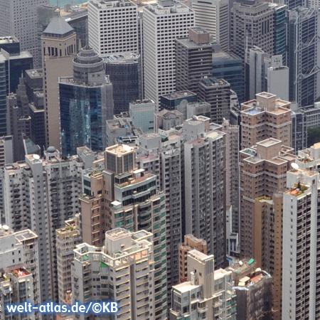 Blick in Hochhausschluchten, Hong Kong