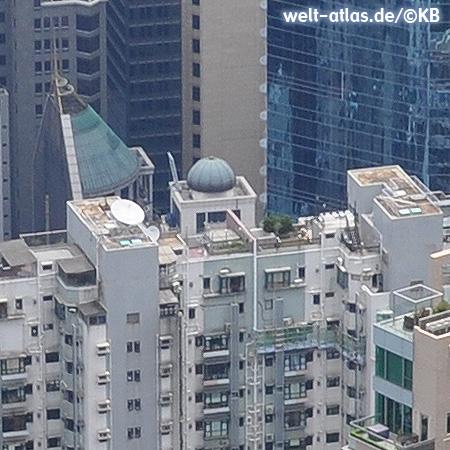 In between skyscrapers of Hong Kong Island