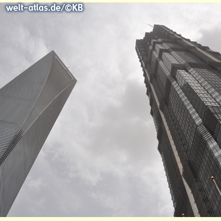 Shanghai World Financial Center (SWFC) und Jin Mao Tower,  China, Asien