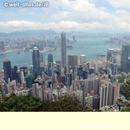 Blick vom Victoria Peak auf Hongkong Central
