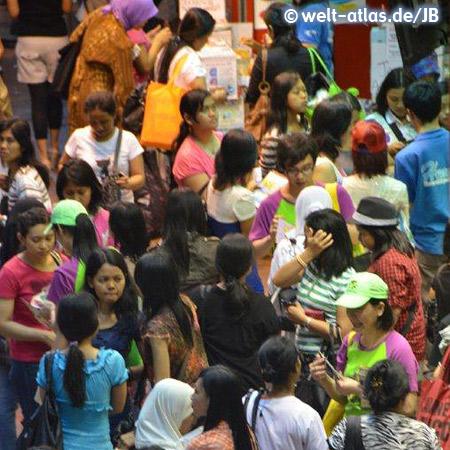 Hong Kong-Island, Treffen der philippinischen Hausmädchen