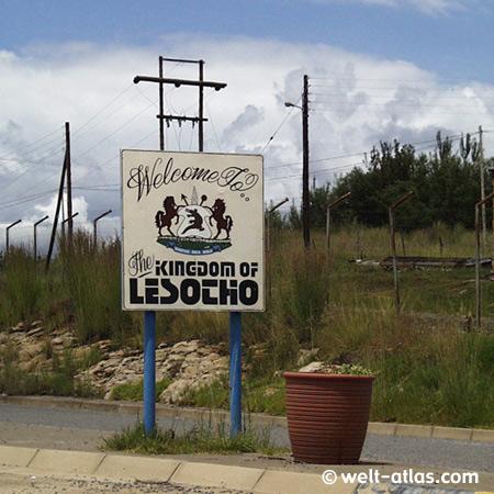 Königreich Lesotho, an der Grenze