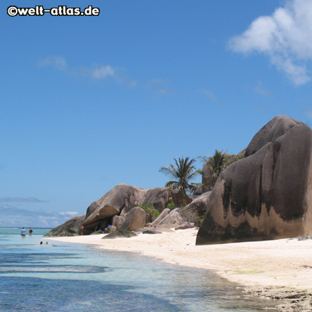 Granitfelsen der Anse Source d´Argent